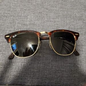 Ray Ban Clubmaster Gold Sunglasses